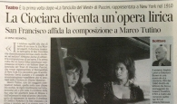 CORRIERE DELLA SERA Febbraio 2013 - La Ciociara