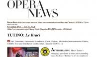 OPERA NEWS Novembre 2016 - Le Braci