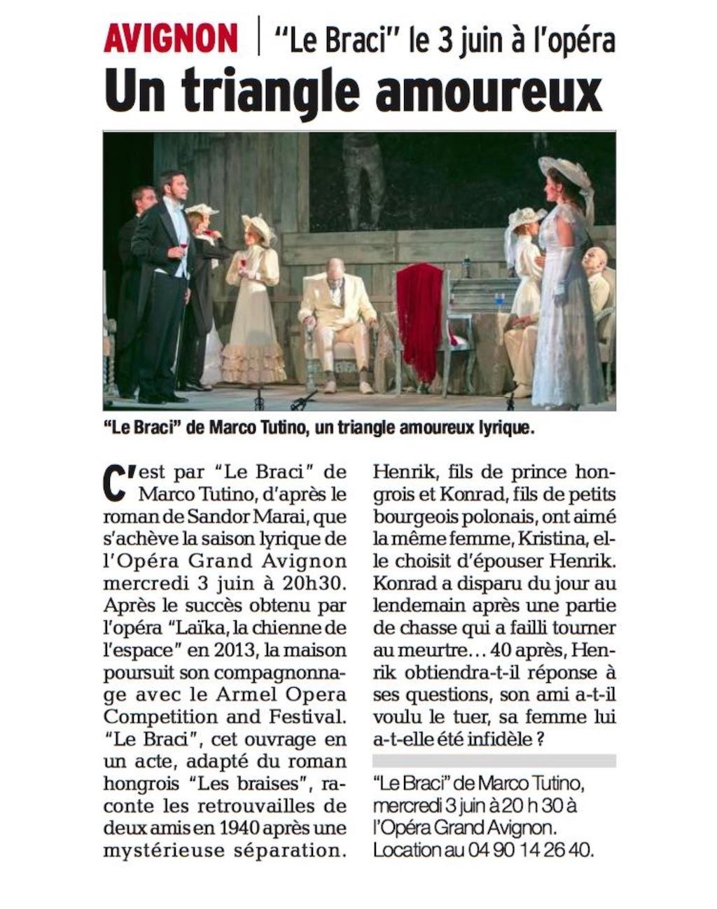 Opera Grand Avignon 2015 - Le Braci